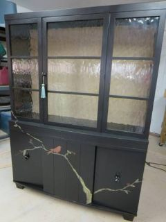 Transitional Chic display cabinet