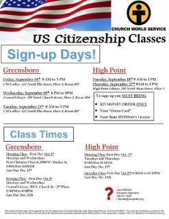 ESL/Citizenship Class/Legal Services