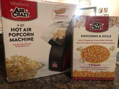 Popcorn Machine and Popcorn