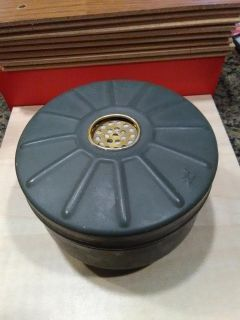 Antique military war gas mask filter collectible