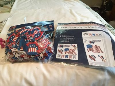 NIPPatriotic Refrigerator Magnets and Foam Stickers 210 pieces