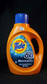 44 loads of tide laundry detergent with ultra oxi