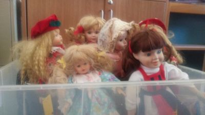 FREE porcelain dolls with stands