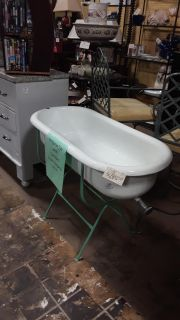 Antique Hungarian Tub & Stand at Brass Bear 2652 Valleydale Rd Birmingham AL 35244 -- 205-566-0601