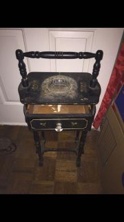 Antique cigar/pipe table