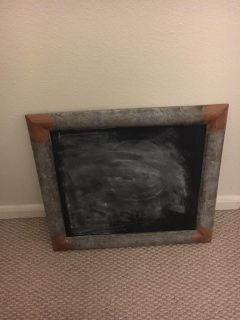 Chalkboard the chalk won t come off will need to be repainted with chalk paint