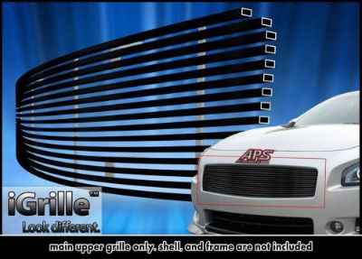 Find Fits 2009-2014 Nissan Maxima Upper Black Stainless Steel Billet Grille Insert motorcycle in Ontario, California, United States