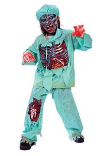 Zombie Doctor Halloween Costume - Size Large 12-14