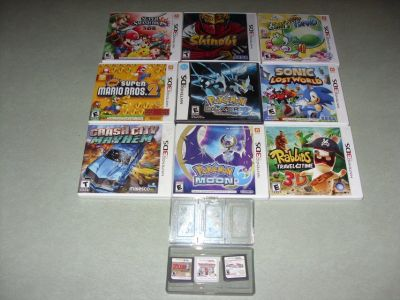 3DS games and two DS games