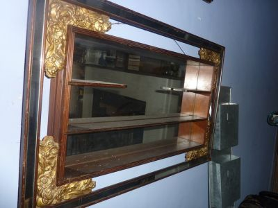 Antique Gold Leaf & Mahogany Shelf 1920