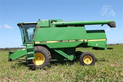 John Deere 9500 Combine for sale in Midville, Georgia.