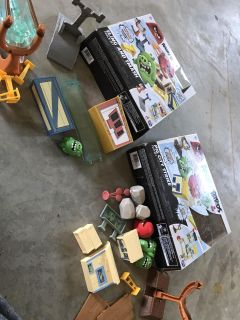 2 Angry Bird play sets (only one piece missing)