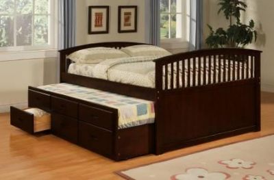 $429, Full bed with twin trundle and storage storage drawers