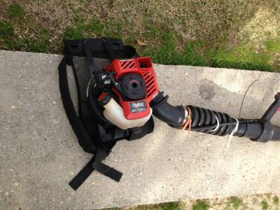 Troybuilt backpack blower new 10min run time