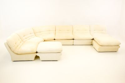 Vladimir Kagen for Preview White Sectional Sofa