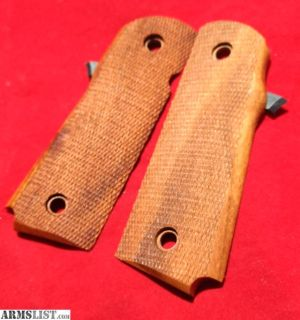 For Sale: Hogue Para Ordnance P14 P16 P18 Goncalo Checkered Wood Grips