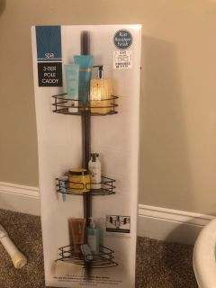 3 Tier pole shower caddy