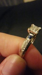 $475, Dress Blue Engagement Ring Size 7