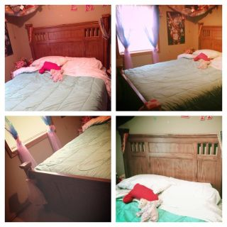 queen size bed with boxspring and matress