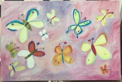 Pottery Barn Kids Butterfly painting