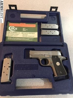 For Sale: Colt Mustang Pocketlite .380 w/4 mags: 5 rounds