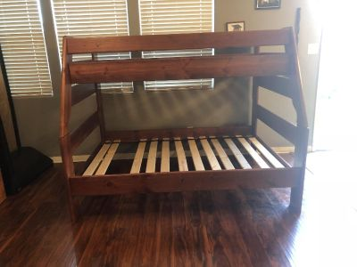 Twin over full solid wood bunk bed set