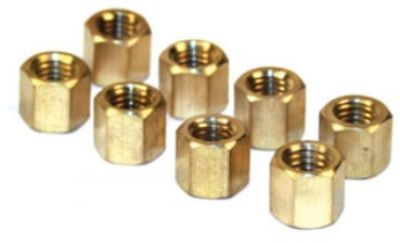 8mm Brass Intake/exhaust Nuts (8)