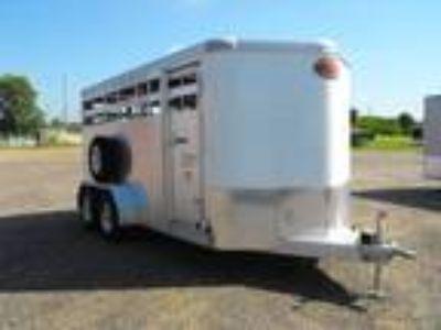 "2018 Sundowner Stockman Express 16' x 6'9"" BP Stock Trailer"