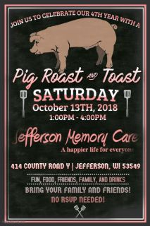 Pig Roast Anniversary Party