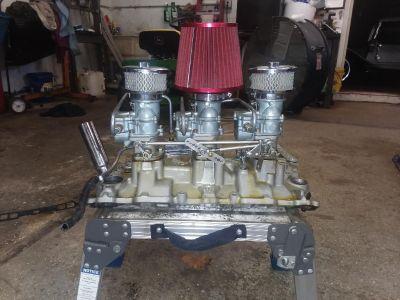 3x2 sbc intake carb