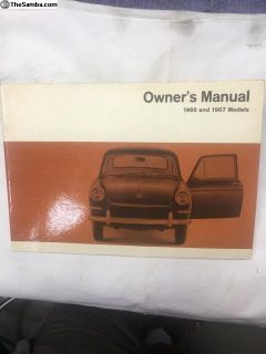 66-67 t-3 glove box manual, very good condition