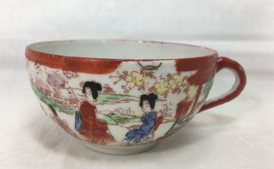Teacup Soko Eggshell China Vintage Handpainted Japan Detailed Scenery