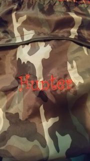 """31 Cinch Sac, Personalized with """"Hunter"""""""