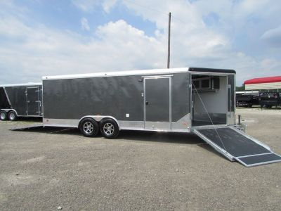 New All Aluminum 8.5x25 Enclosed Cargo Snowmoblie Car Hauler