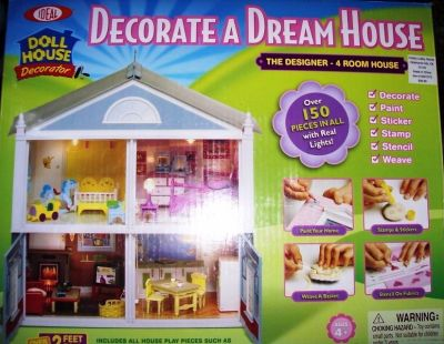 Brand New In Box Build A 4 Room Doll House