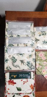 Assorted floral table runners