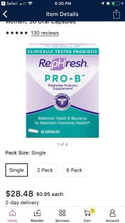 Rephresh Pro-B Probiotic Supplement
