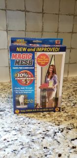 Magic Mesh Hands Free Screen Door. As Seen on TV Product. Keep Fresh Air in and Bugs Out. NIB. No Tools Required.