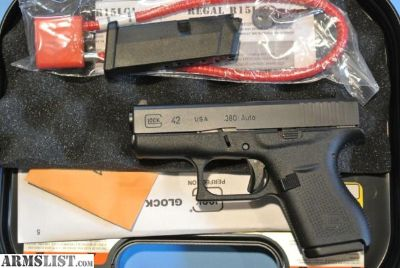 For Sale: Glock 42 - New .380 Auto