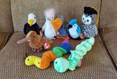 Birds & What They Eat Beanie Babies, All for $15