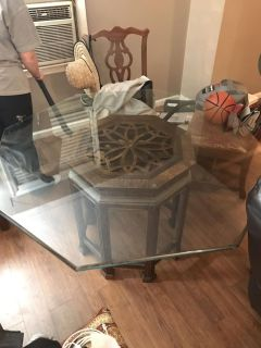 Beautiful old glass table!