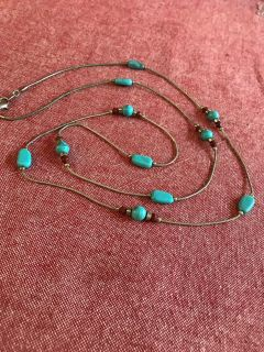 Awesome vintage 36 necklace marked NR