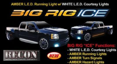 """Find RECON Big Rig """"Ice"""" Amber LED Running Lights with White Courtesy Lights - 26414X motorcycle in La Grange, Kentucky, United States, for US $179.95"""