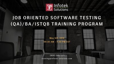 Job Oriented Software Testing , QA/BA, ISTQB Training Program