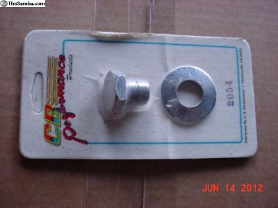 New -chrome Plated Engine Pulley Bolt & Washer