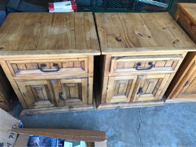Rustic Mexican Pine Nightstands