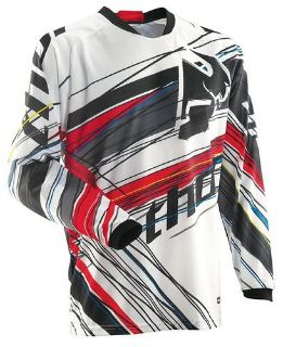 Sell Thor Phase Vented Wired Jersey Red White Medium NEW 2014 motorcycle in Elkhart, Indiana, US, for US $39.95