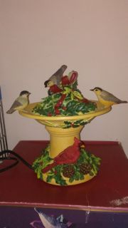 Lenox Bird Water Fountain with Cardinals