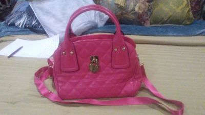 Juicy Coutire Small Hot Pink Leather Crossbody Handbag