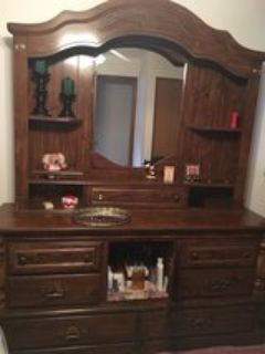 Headboard, Dresser and Mirror Hutch